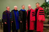 Past Presidents of Ricks College and BYU-Idaho: Bruce C. Hafen, Joe J. Christensen, Elder David A. Bednar, Kim B. Clark and Clark G. Gilbert