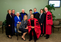 Past Presidents of Ricks college and BYU-Idaho: Bruce C. Hafen, Joe J. Christensen, Elder David A. Bednar, Kim B. Clark and Clark G. Gilbert and their wives.