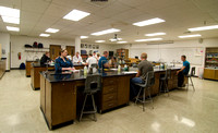 Students in the Microbiology Lab in the Ezra Taft Benson Building.