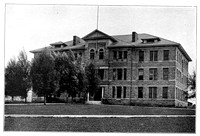 Ricks College photo of the Sport Building 1924