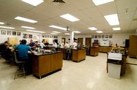 Students in the Microbiology Lab in the Ezra Taft Benson Building
