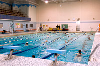 Swimming class in the Hart pool.
