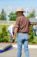 "Student helping with the ""steer"" roping at BYU-Idaho's first Ag Days"