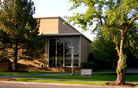 A 2003 view of the Oscar A. Kirkham Building, one of the oldest buildings on BYU-Idaho campus.