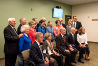 BYU-Idaho President, past and present, pose with their wives for a group photo.