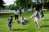 Student Living department employees and their families enjoy a picnic at Smith Park, to celebrate 10 years of being an organization.