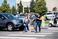 BYU-Idaho Campus. Students walking the crosswalk without paying attention. Jul 2018