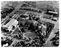 An Aerial photo of Ricks College campus, photo of the Sport, B2 and Kirkham buildings
