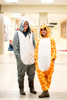 Students dressing up for Halloween