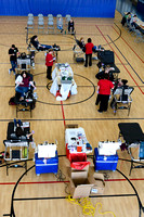 Students and Faculty donate blood during a blood drive at BYU-Idaho.