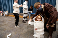 Students participate in a Halloween party as part of the special needs program