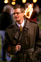 President Bednar leads the torchlight parade during Spirit Week.