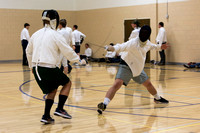Students fencing at the Hart on a Saturday
