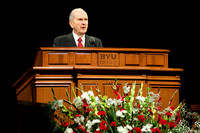 Elder Russell M. Nelson speaks at the BYU-Idaho Center & Manwaring Building dedication