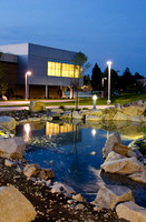 Photo taken the night of July 12, 2012 of the finished water feature in the Taylor Quad.