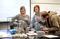 Students test soils in a lab taught by Jared Williams in the Applied Plant Science Department.