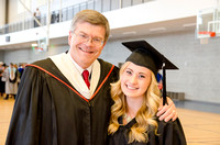 Brother Ward Hicks and his niece Alexa Kuettel pose for a picture before Processional. Photo by Erik Hill.