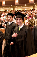 Graduate Nathan Hohsfield makes his way to his seat during the Processional. Photo by Erik Hill.