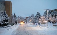 BYU-Idaho campus becomes a Winter Wonderland on graduation day.