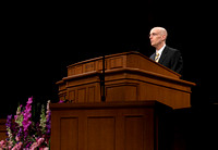Vice President Eyring conducts devotional.
