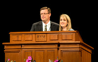 President Gilbert and his wife speak at their first devotional for the first time about fulfilling callings.