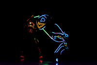 Brigham Young University-Idaho Center Stage presents the Light Wire Theater, a troupe of dancing puppeteers that perform in the dark and illuminate the characters and scenes with stringed lights.