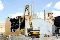 Demolition begins on the old part of the Heating Plant.