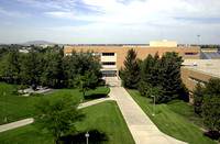 Photo taken from the top of the Joseph Fielding Smith Building of the Central Quad before construction.