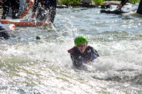 Students go riverboarding near Blackfoot, ID as a part of BYU-Idaho's Outdoor Activities.