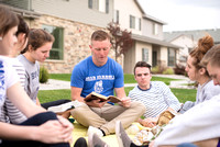 Young single adult Home Evening groups are help every Monday in Rexburg.