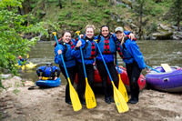 Brigham Young University-Idaho students visit the Salmon River for a whitewater rafting day trip.