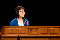 Marilyn Nelson a Restricted Accounts Specialist for BYU-Idaho encourages students to hold on to the hand of the Lord, because through him we find hope.