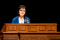 Marilyn Nelson a Restricted Accounts Specialist for BYU-I encourages students to hold on to the hand of the Lord, because through him we find hope.