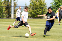The Latino Association goes up against the Polynesian Association during the World Cup Soccer Tournament.