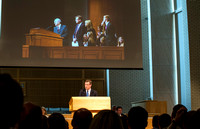 President Clark G. Gilbert conducts his first All Employee Meeting at BYU-Idaho.
