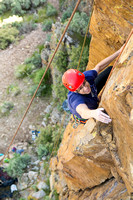 Students go rock climbing at Paramount, located near Kelly Canyon as part of the Outdoor Activities Program.