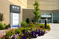 The BYU-Idaho Center's southwest entrance.
