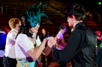 Students donning masks and dressed in their best attended the Masquerade Ball held in the Hart Building.