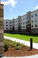 A new housing project at BYU-Idaho, Centre Square, close to completion.