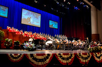 The Brigham Young University-Idaho Choir and Orchestra perform in the Patriots and Pioneers concert, with guest appearance by the Dallas Brass.