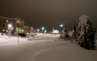 Campus Winter on a snowy night.<br/>