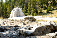 Access to the Lone Star Geyser is an easy 2.5 mile walk on an old service road following the Firehole River. Yellowstone National Park