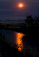 Moonrise Over the Teton River