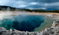 Sapphire Pool at Biscuit Basin in Yellowstone National Park
