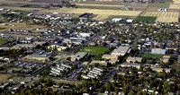 Aerial view of the BYU-Idaho campus and the surrounding city of Rexburg