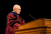 Elder Dallin H. Oaks conducts the Inauguration of President Clark G. Gilbert. Photo by Erik Hill.