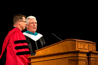 President Uchtdorf presents President Clark G. Gilbert. Photo by Erik Hill.