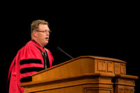 President Clark G. Gilbert speaks at his Inauguration. Photo by Erik Hill.