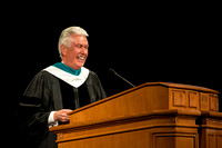 President Uchtdorf speaks at President Clark Gilbert's Inauguration. Photo by Erik Hill.