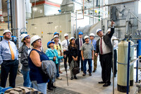 Economic developers from around the State visit BYU-Idaho and take a tour of the Engineering and Technology facilities in the Austin Building and the Heating Plant. and the Heating Plant.